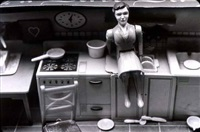 woman/kitchen/sitting by laurie simmons