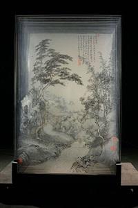 ancient landscape of xia wu singing plum blossom by xia xiaowan