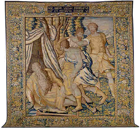 a brussels renaissance biblical tapestry (tpy 4)