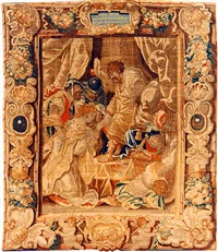 a brusseles baroque mythological tapestry by reydams heinrich