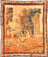 an aubusson genre tapestry (tpy 236)