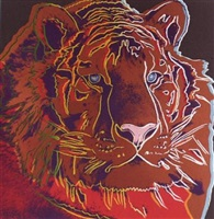 endangered species portfolio: siberian tiger by andy warhol