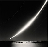full moonrise, chausey islands, france by michael kenna