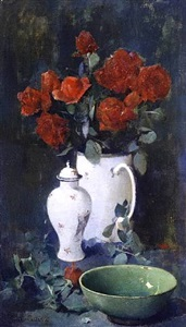 roses and oriental porcelain by soren emil carlsen