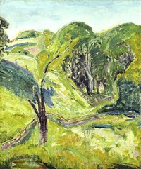 green fauve by alfred henry maurer