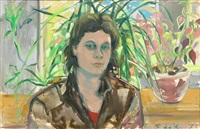 portrait of a woman by elaine de kooning