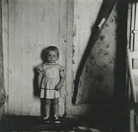 untitled (small girl standing next to wall with peeling wallpaper), 1961<br /> printed: 1960s by ralph eugene meatyard