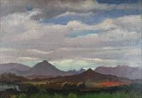 hawaiian mountains and sky by eugene francis savage