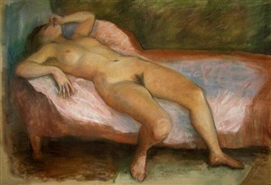 untitled (nude) by róbert berény