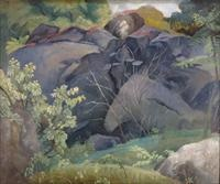 boulders in clearing by eugene francis savage