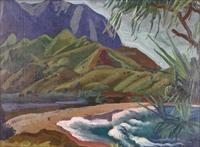waihia bay (sic), hawaii by eugene francis savage