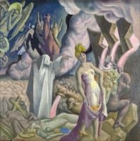 allegorical scene with figures l6bfk by eugene francis savage
