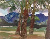 palm trees, hawaii by eugene francis savage