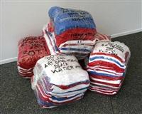 30 tee-shirts hallal, art basel miami by kader attia