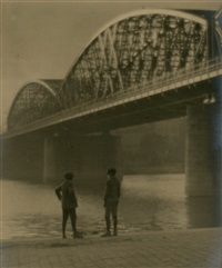 two boys under bridge by jaromir funke