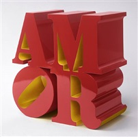 amor red yellow by robert indiana