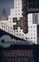 locksmith's sign, nyc by ernst haas