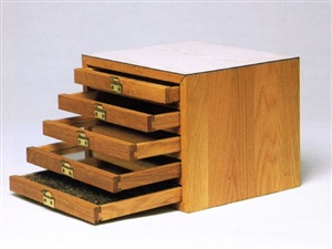 box with drawers by richard artschwager