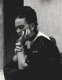 frida (deep in thought) by lola alvarez bravo