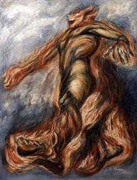 hombre en llamas by josé clemente orozco