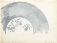 a design for a dish by henri edmond cross