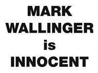 mark wallinger is innocent by mark wallinger