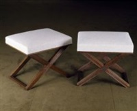 paire de tabourets / pair of stools by jean-michel frank