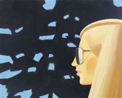 a reflection with kirsten by alex katz
