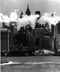 downtown financial center by andreas feininger