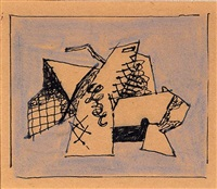 cubist drawing (untitled) by stuart davis