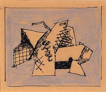 cubist drawing (untitled) by stuart davis