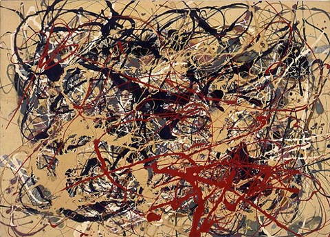 untitled (not pollock) by mike bidlo