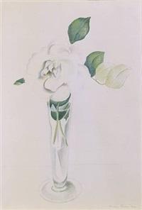 rose in vase by charles sheeler