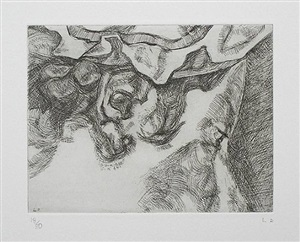 after chardin, 2000, (small plate) by lucian freud
