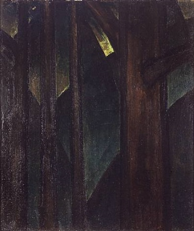 dark abstraction (woods) by arthur dove