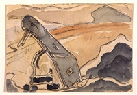 derrick (steam shovel, port washington) by arthur dove
