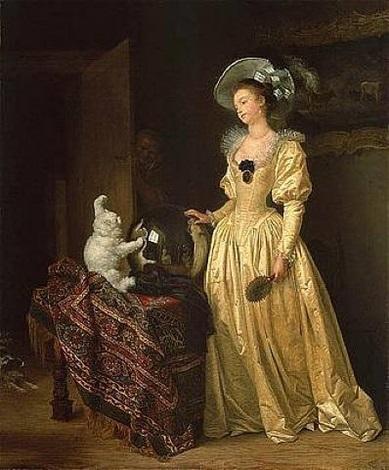 le chat angora by jean honoré fragonard