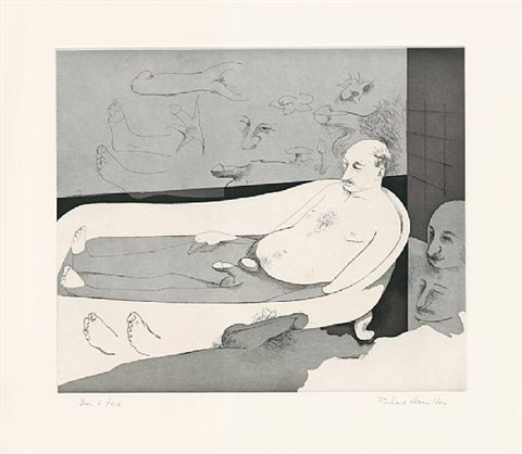 a languid floating flower by richard hamilton