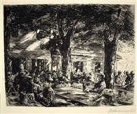 kellergarten in rosenheim (cellar garden in rosenheim) by max liebermann