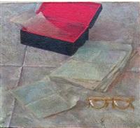 untitled (stilleben mit brille und buch) by vitaly komar