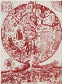 map of nowhere (red) by grayson perry