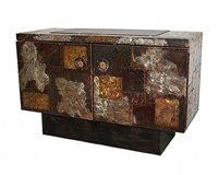 paul evans patchwork cabinet (sold) by paul evans