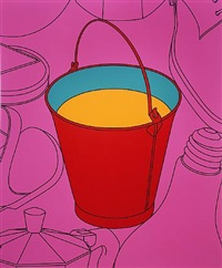 untitled (bucket) by michael craig-martin