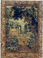 a brussels baroque pastoral tapestry (tpy 9)