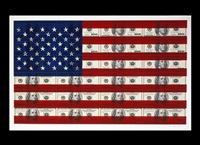 untitled ($100 u.s. flag on coventry rag paper) by steven gagnon