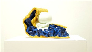paradise pie iv, blue by coosje van bruggen and claes oldenburg