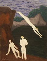 quarry bathers by milton avery
