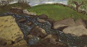 rocky stream by milton avery