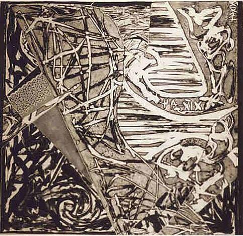 swan engraving square ii by frank stella