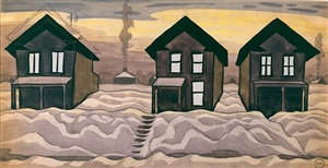 houses in the snow by charles ephraim burchfield